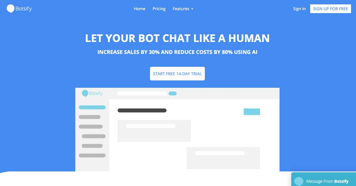 Botsify the chatbot tool for startups