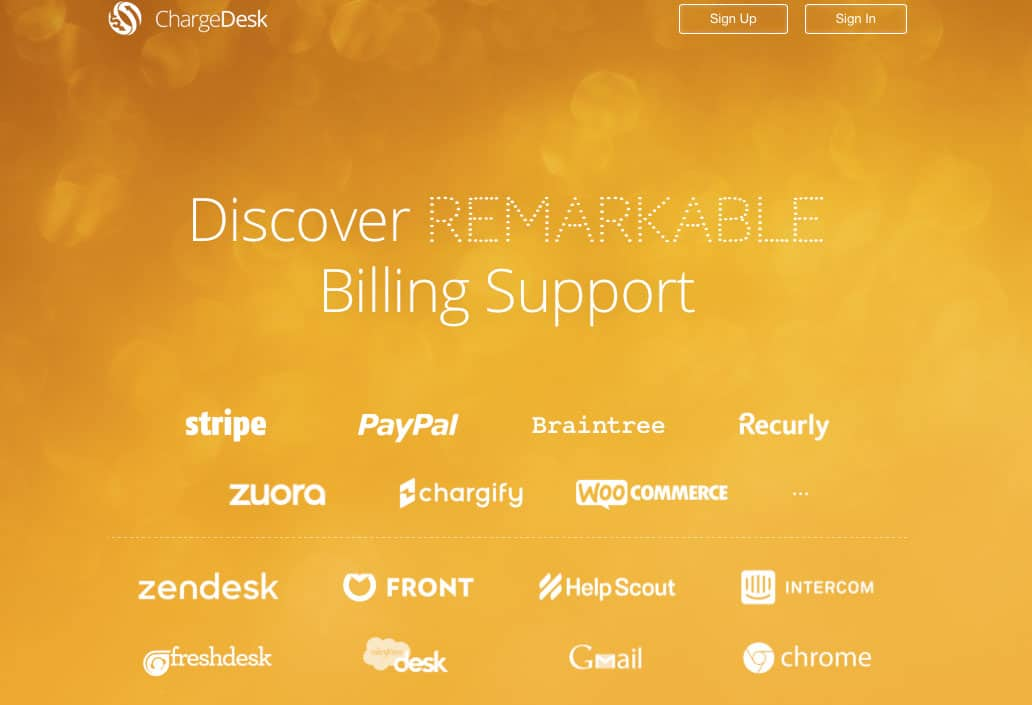 Chargedesk billing support for startups