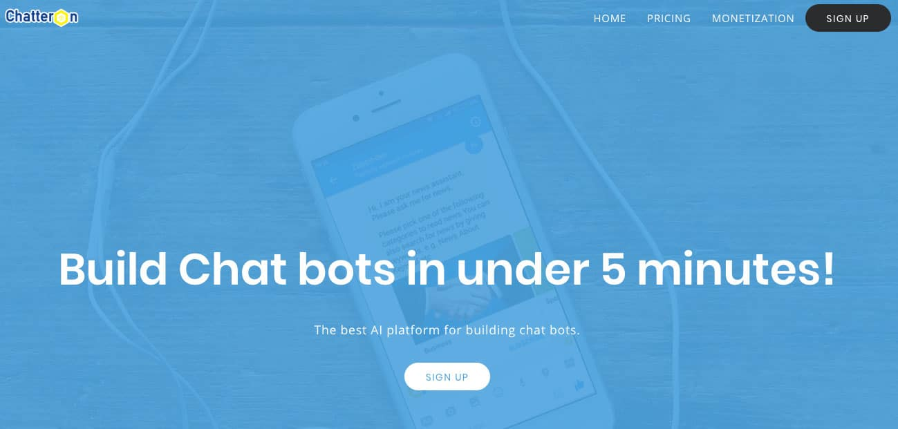 chatteron chatbot tool for startups