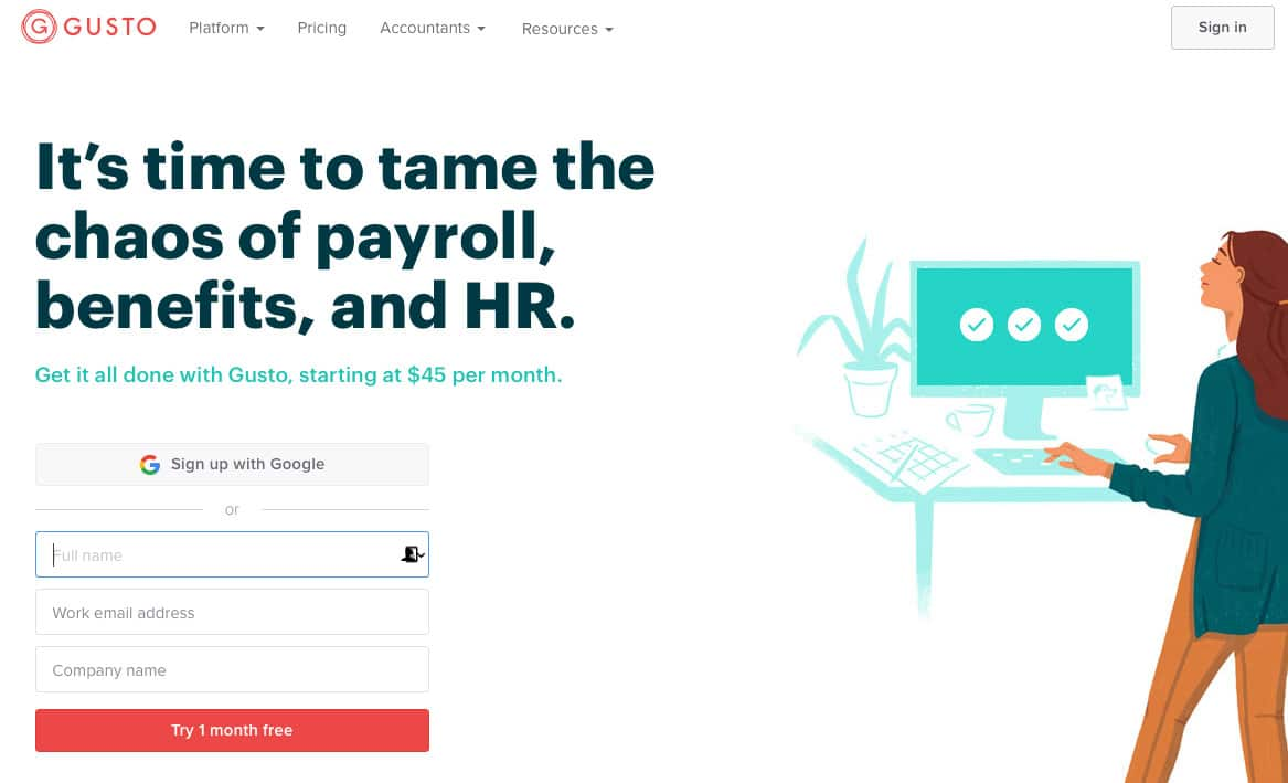 Gusto a modern payroll platform with tonnes of integrations