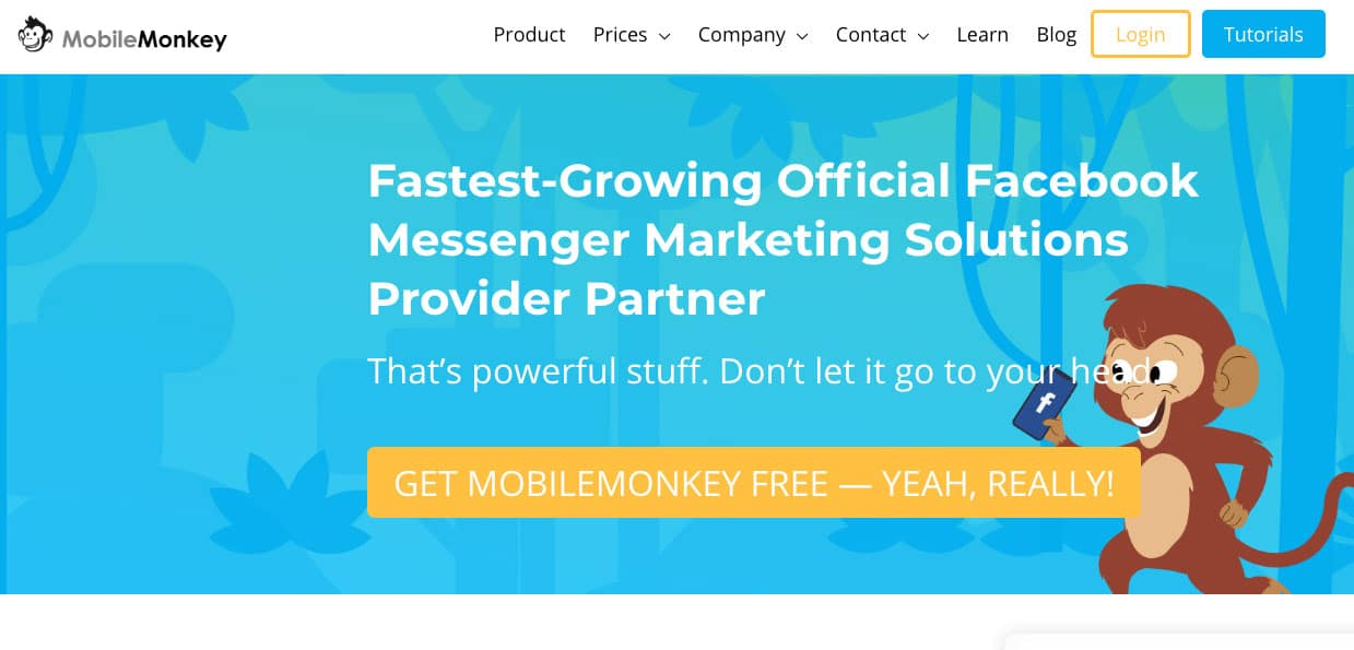 mobilemonkey the chatbot to take your Facebook marketing to the next level