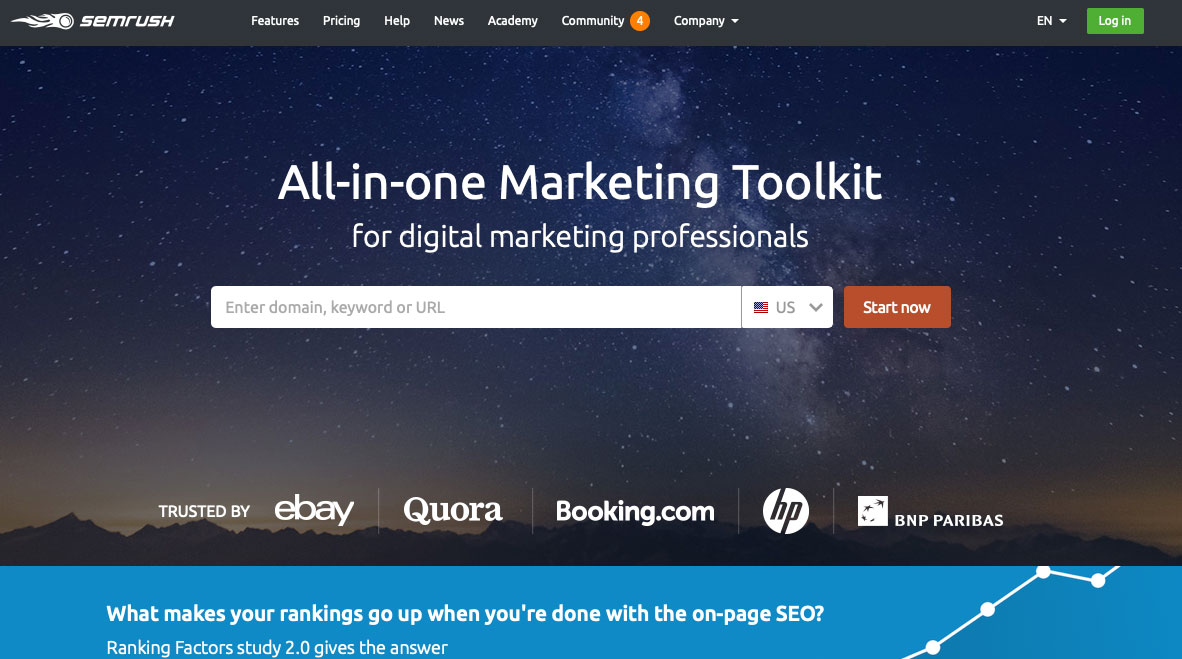 semrush seo tool for startups