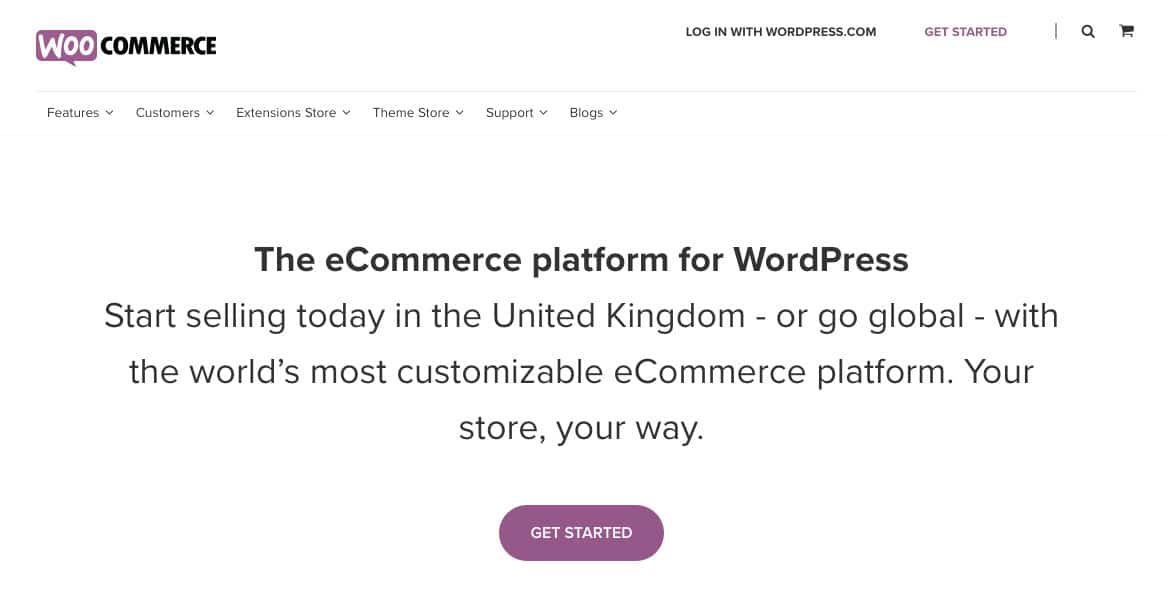 Woocommerce is a WordPress plugin that transforms WordPress into an ecommerce store