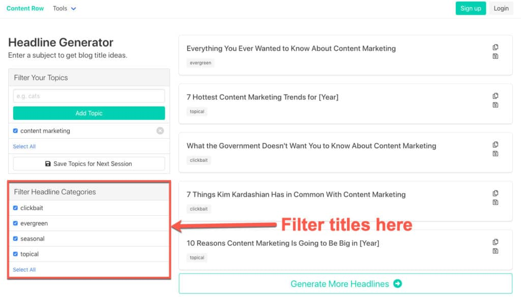 headline generator one of many content marketing tools