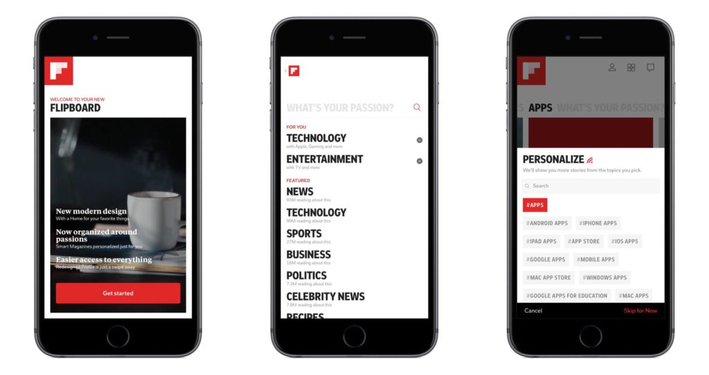flipboard for content discovery