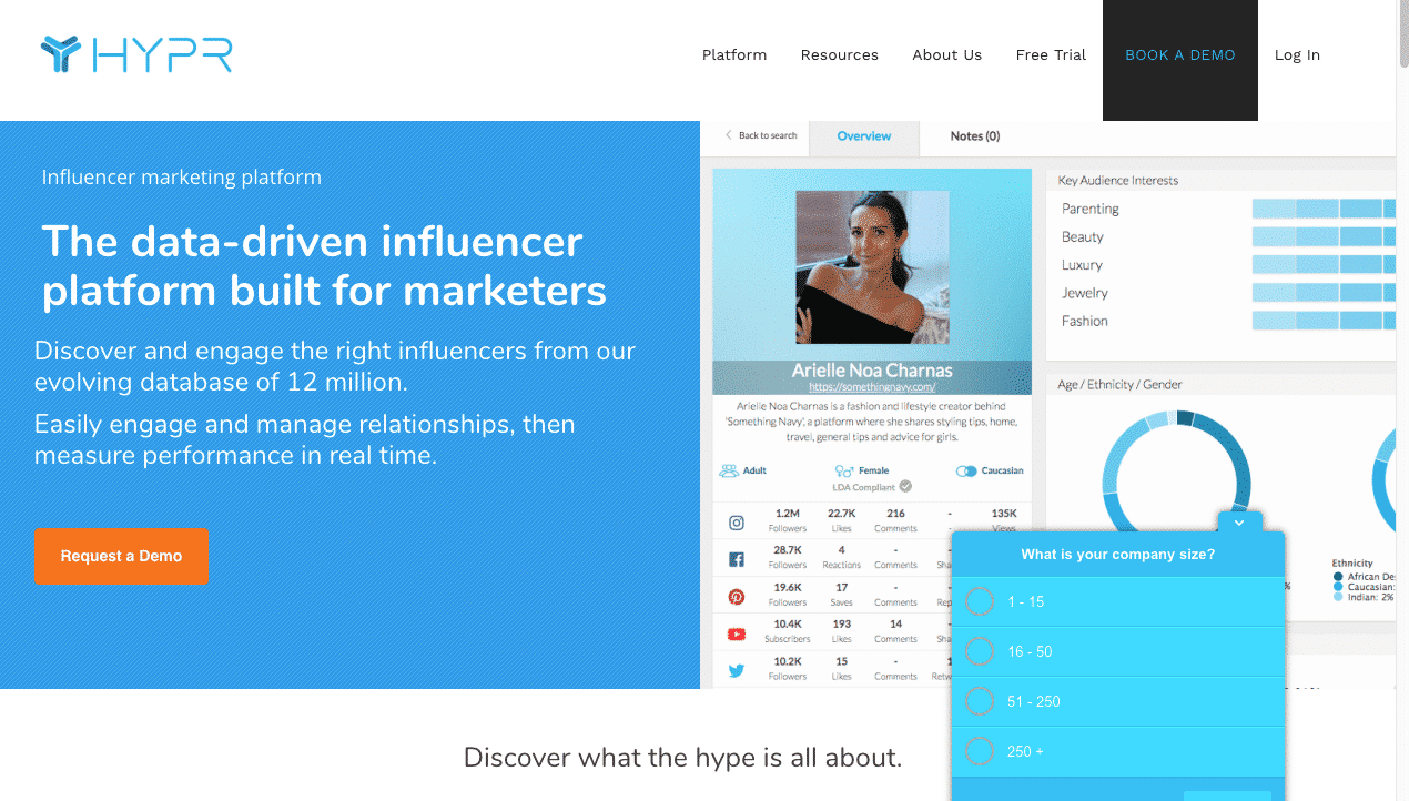 hypr influencer marketing tool