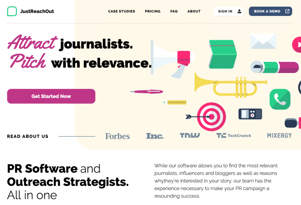 justreachout pr and outreach tool for startups